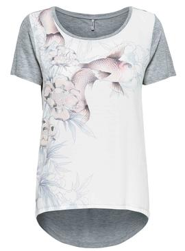 Camiseta Only Rhina Gris