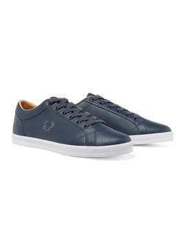 Zapatilla Fred Perry Baseline Leather Marino Hombr