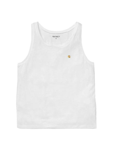 Camiseta Carhartt Chase Blanco Gold Mujer