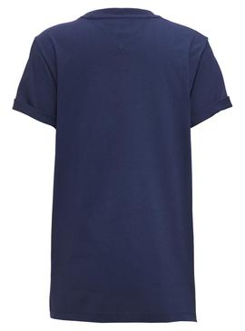 Camiseta Tommy Jeans Collegiate Azul Mujer