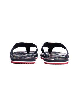 Chanclas Tommy Hilfiger Heritage Flag Print Marino