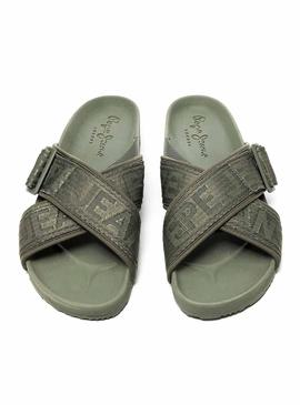 Chanclas Pepe Jeans Ultra Bio Crossed Verde
