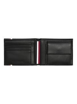 Cartera Tommy Hilfiger TH FLap Coin Negro Hombre