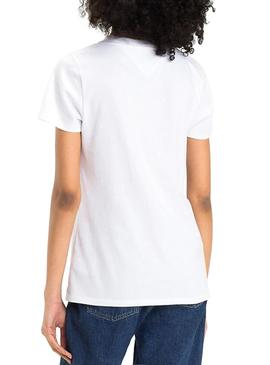 Camiseta Tommy Jeans Classics Blanco Mujer