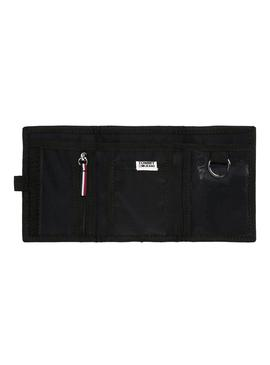 Cartera Tommy Jeans Trifold Tech Negro Hombre