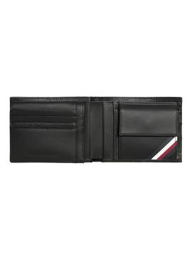 Cartera Tommy Hilfiger Down Flap Coin Negro Hombre