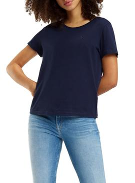 Camiseta Tommy Jeans Soft Marino Mujer
