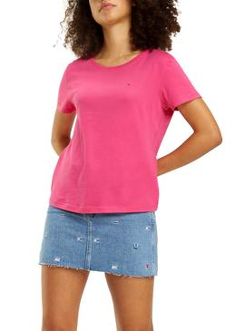 Camiseta Tommy Jeans Soft Rosa Mujer