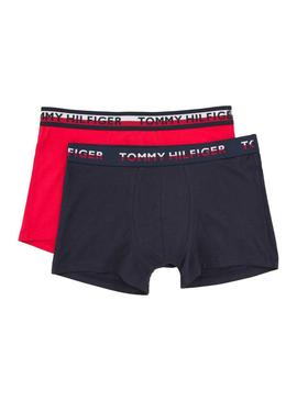 Pack Calzoncillos Tommy Hilfiger Trunk Rojo Hombre