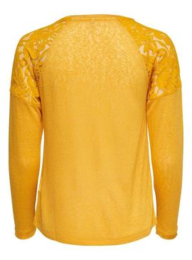 Camiseta Only Riley Amarillo Mujer
