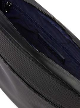 Bolso Lacoste M Flat Crossover Negro Hombre