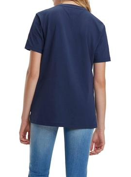 Camiseta Tommy Jeans Embroidery Marino Mujer