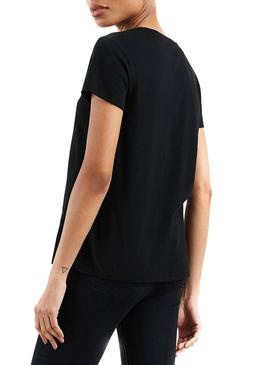 Camiseta Levis The Perfect Tee Holiday Negro Mujer