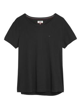 Camiseta Tommy Jeans Soft Negro Mujer