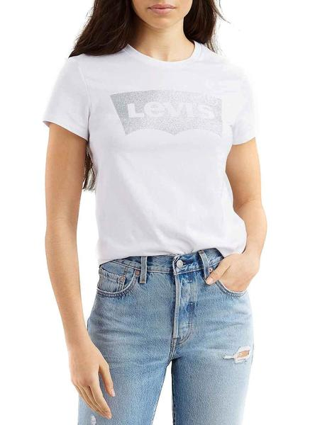 Camiseta Levis The Perfect TeeHoliday Blanco Mujer