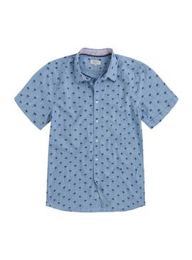 Camisa Pepe Jeans Trace Azul Hombre