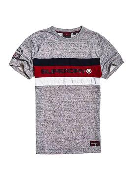 Camiseta Superfry Trophy Gris Hombre