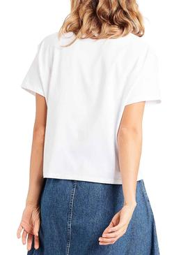 Camiseta Levis Perfect Graphic Blanca Mujer