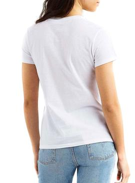 Camiseta Levis Perfect Holiday Blanco Mujer