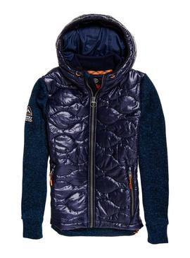 Chaqueta Superdry Hybrid Storm Wave Marino Hombre