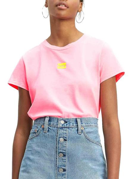Camiseta Levis Graphic Surf Rosa Mujer
