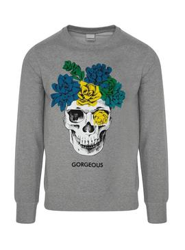Sudadera Gorgeous Skull Gris Hombre