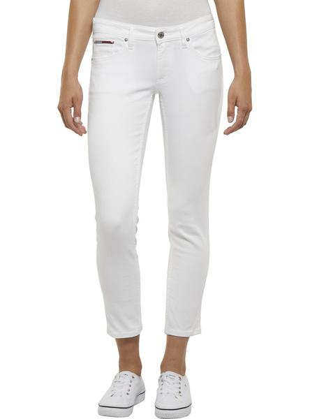 Pantalon Vaquero Tommy Jeans Sophie Blanco Mujer