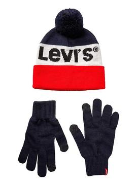 Set Gorro y Guantes Levis Gift Marino Hombre