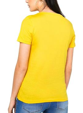 Camiseta Only Indre Amarillo Mujer