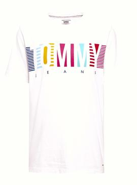 Camiseta Tommy Jeans Summer Blanco Mujer