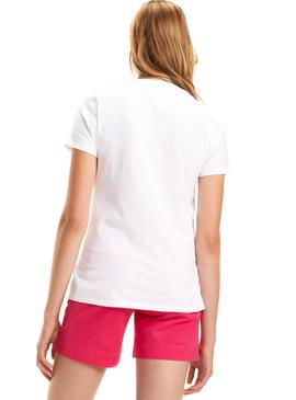 Camiseta Tommy Jeans Outline Signature Blanco