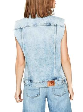 Chaleco Pepe Jeans Maria Light Denim Mujer