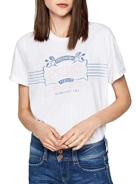 Camiseta Pepe Jeans Adette Blanco Mujer