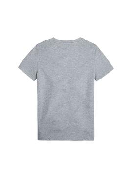 Camiseta Tommy Hilfiger Embroidery Logo Gris