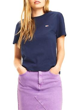 Camiseta Tommy Jeans Classics Azul Mujer
