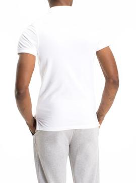 Polo Tommy Jeans Fine Blanco Hombre
