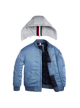 Cazadora Tommy Hilfiger Hooded Bomber Azul