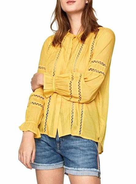 Blusa Pepe Jeans Isabelle Amarillo Mujer