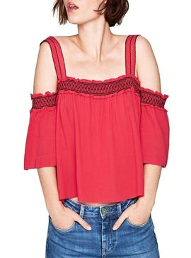 Top Pepe Jeans Stacey Rosa Fucsia Mujer