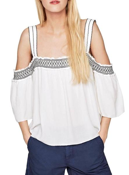 Top Pepe Jeans Stacey Blanco Mujer