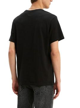 Camiseta Levis Relaxed Negro Hombre