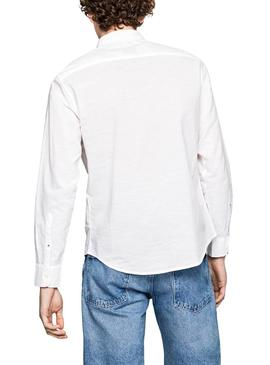 Camisa Pepe Jeans Cameron Blanco Hombre
