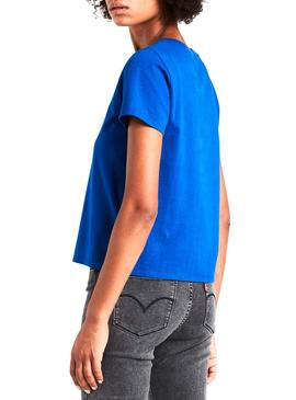 Camiseta Levis Graphic HSMK Azul Mujer