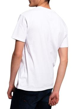 Camiseta Superdry Acid Graphic Blanco Hombre