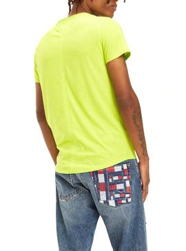 Camiseta Tommy Jeans Marbled Lima Hombre
