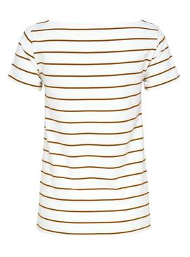 Camiseta Only Live Stripes Blanco Mujer