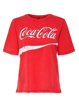 Camiseta Only Coca Cola Rojo Mujer