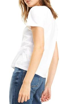 Camiseta Tommy Jeans Classic Tee Blanco Mujer