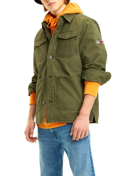 Chaqueta Tommy Jeans Cargo Verde Hombre