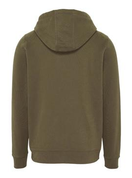 Sudadera Tommy Jeans Essential Hoodie Verde Hombre